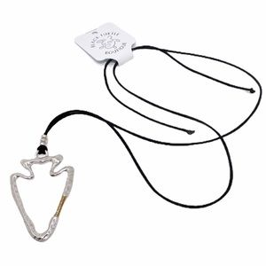 Jewelry - Silver Arrow & Black Suede Cord Necklace NWT